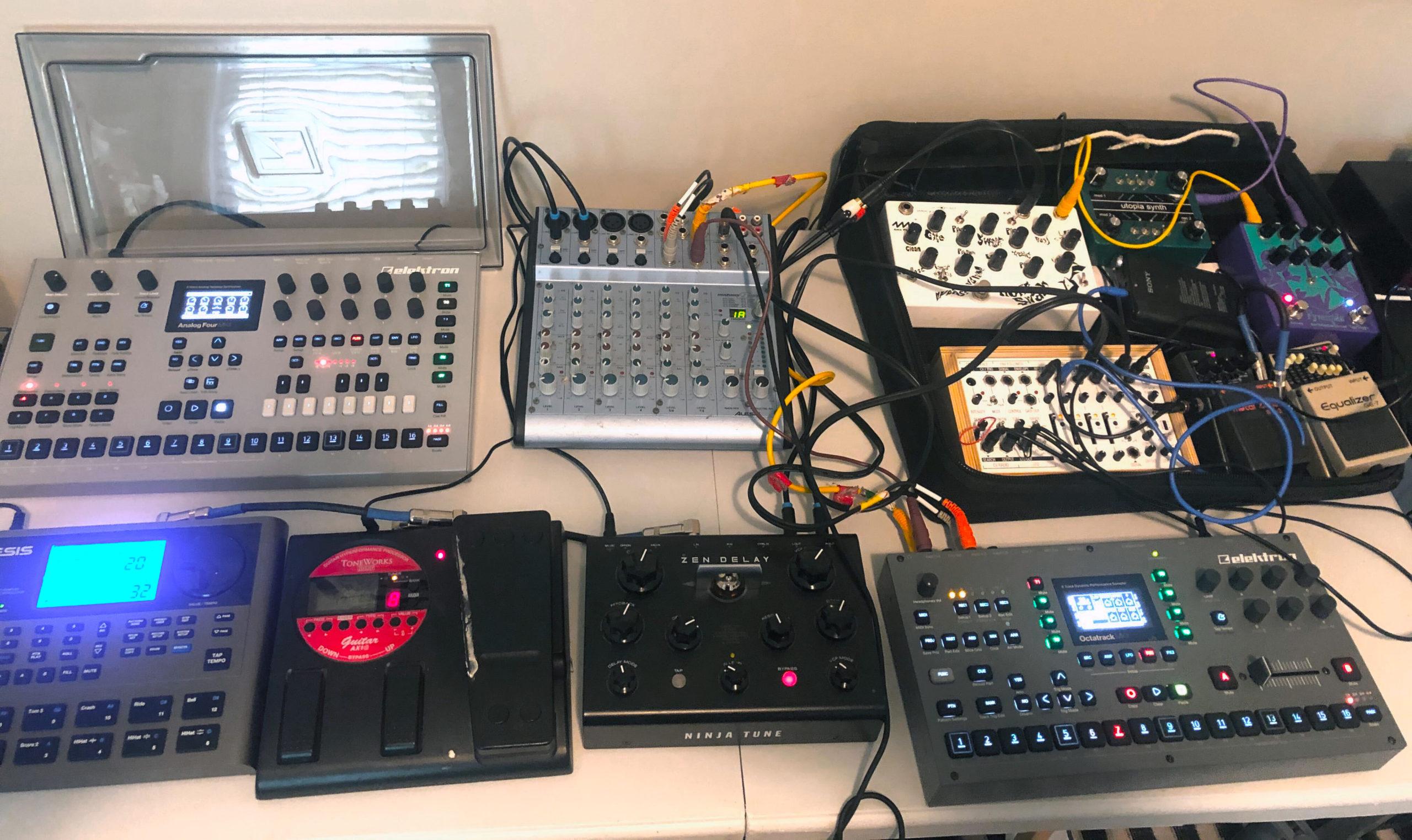 J. Bagist gear setup for Non-Event set in December 2020